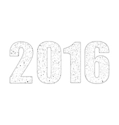 2016 in the style of the ashes eps 10 vector