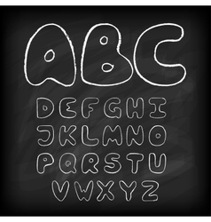 Chalk board hand drawn alphabet vector