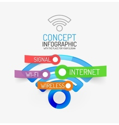 Wifi infographic concept vector