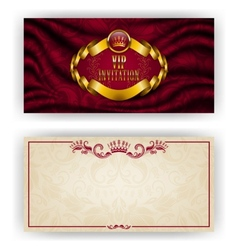 Elegant template for vip luxury invitation vector image