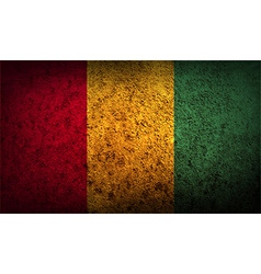 Flag of guinea with old texture vector