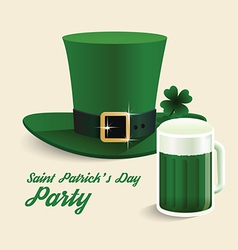 Modern design saint patricks day green hat vector
