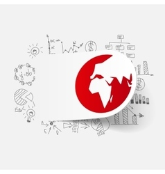 Drawing business formulas globe vector