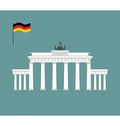 Brandenburg gate in berlin landmark of germany vector