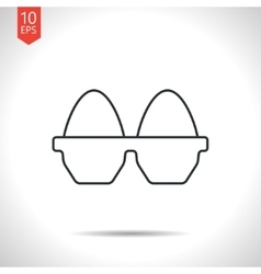 Egg icon vector