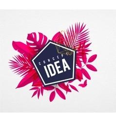 Frame floral idea pink vector