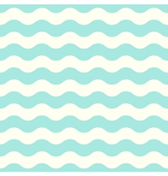Pastel seamless retro wave pattern - mint vector