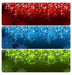 Abstract Christmas Banner vector image