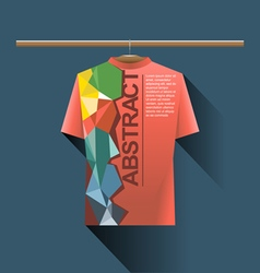 Abstract red shirt with colored logo vector
