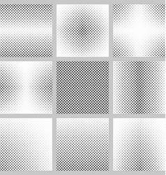 Black and white pentagram pattern design set vector