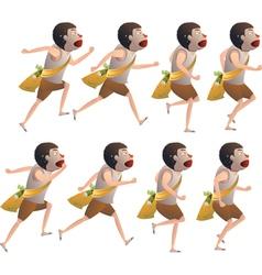 Boy run cycle vector image