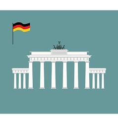 Brandenburg gate in berlin landmark of germany vector