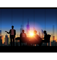 Business meeting vector image vector image