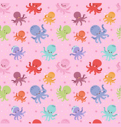 Cartoon octopus character vector
