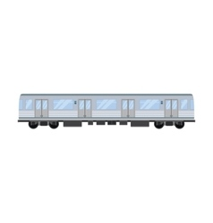 City railway train transport vector