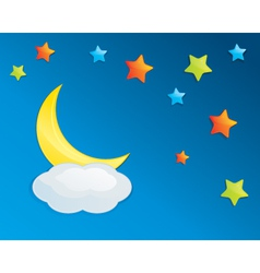 Colorful Night Sky Eps10 vector image