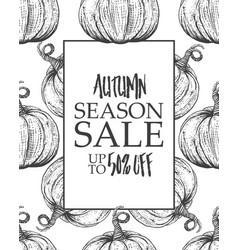 design poster big autumn sale vector image vector image