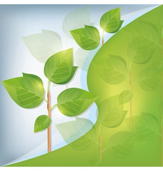Eco background abstract with plant vector image