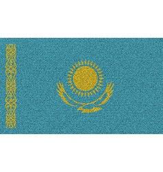 Flags Kazakhstan on denim texture vector image vector image