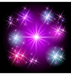 glowing stars vector image