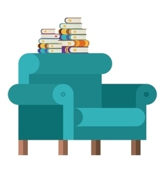 Isolated books and chair design vector