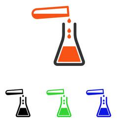 Liquid transfusion flat icon vector