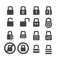 lock icon set vector image