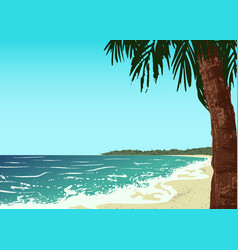 ocean and sand beach vector image vector image