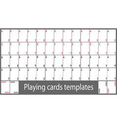 Playing cards template set vector