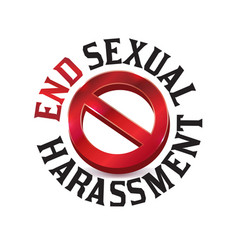 Sexual harassment warning sign symbol vector