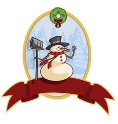 snowman banner vector image vector image