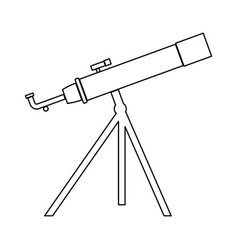 telescope the black color icon vector image vector image