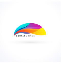 Vibrant wavy logo concept vector