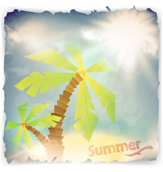 Vintage grunge summer background vector
