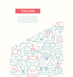 welcome to thailand - line design brochure poster vector image vector image