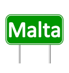 Malta road sign vector