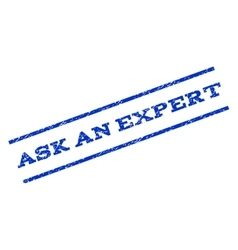 Ask an expert watermark stamp vector