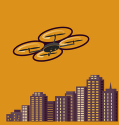 Air drones photography cityscape sunset vector