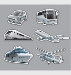 Stickers of transport vector