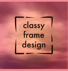 classy frame design vector image