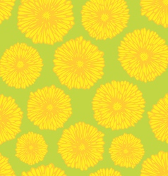 Seamless dandelion pattern vector image