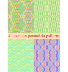 4 seamless geometric patterns vector image vector image