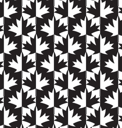 Black and white alternating maple leaves half and vector