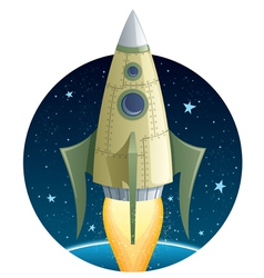 rocket in space vector image