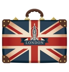 Suitcase with big ben vector