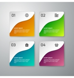Infographics paper squares vector