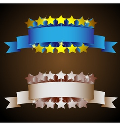 label with stars in vintage styletwo colored versi vector image