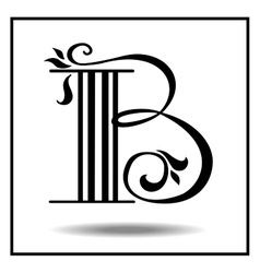 Letter b made with leaves vector