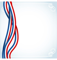 French ribbons flag vector