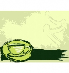 Grunge chinese tea background vector